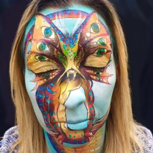 Dragon face painting-Raphaelle Fieldhouse