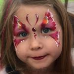 Chesterfield face painter butterfly face paint