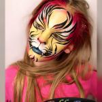 Face painting bright tiger