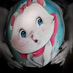 Belly painting - Aristocats theme