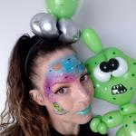 Alien Party Paint and balloons
