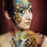 Creative body painting - theme: Love